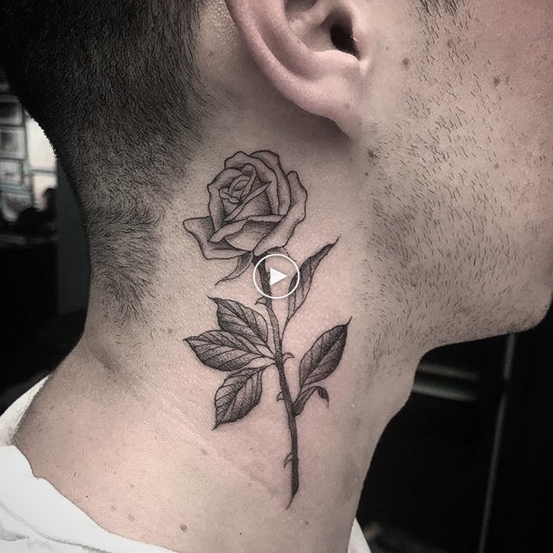 Tatuajes De Rosas Todo Lo Que Debes Saber Pagina 43 De 49 Rose Tattoos For Men Neck Tattoo For Guys Rose Neck Tattoo