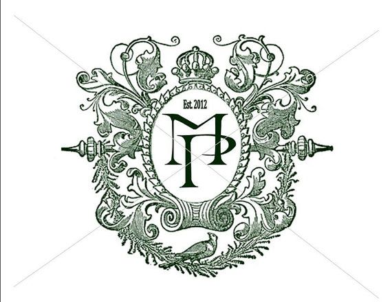 Custom Digital Wedding Monogram Wedding Monogram Logo Crest