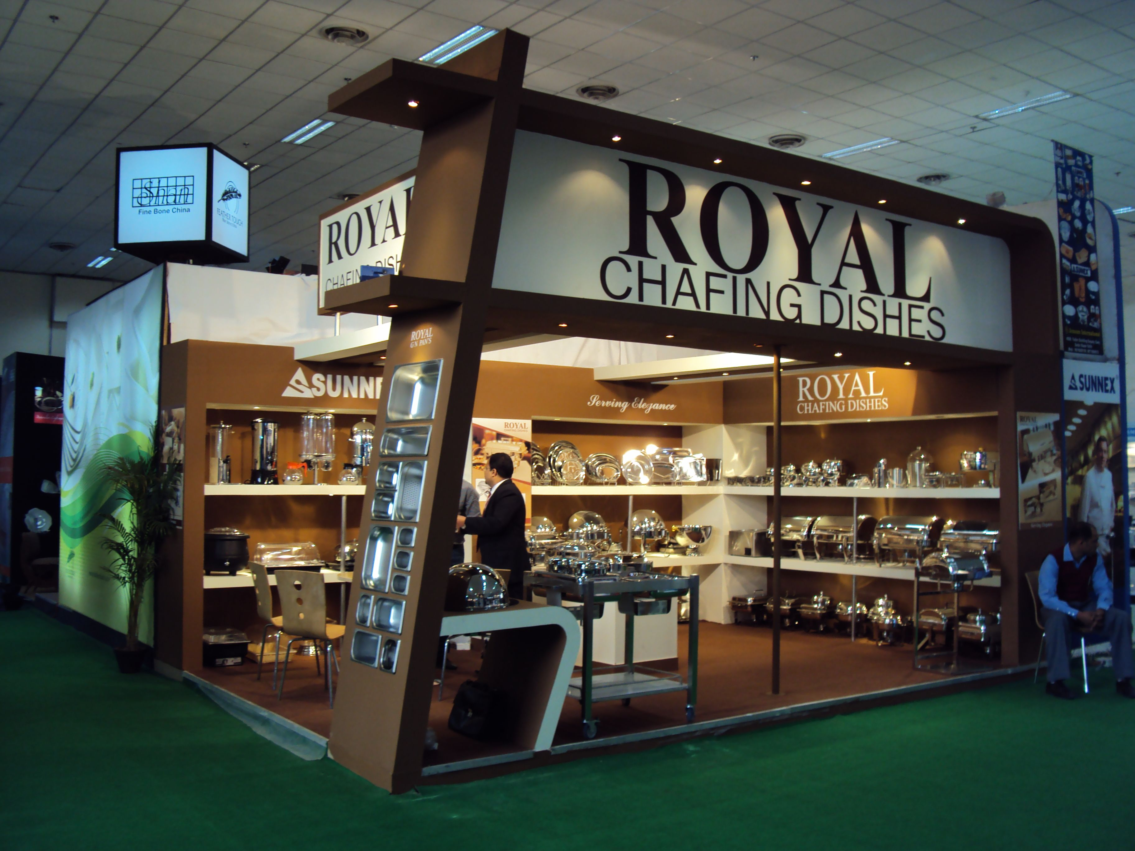 Exhibition Design For Royal Chafing Dishes Exhibition Stand