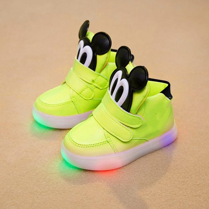 High quality LED classic girl boys sneakers glitter lighting children  casual shoes Patch Hook Loop fashion baby kids sneakers. Yesterday s price   US  12.49 ... c9615e6a3f84