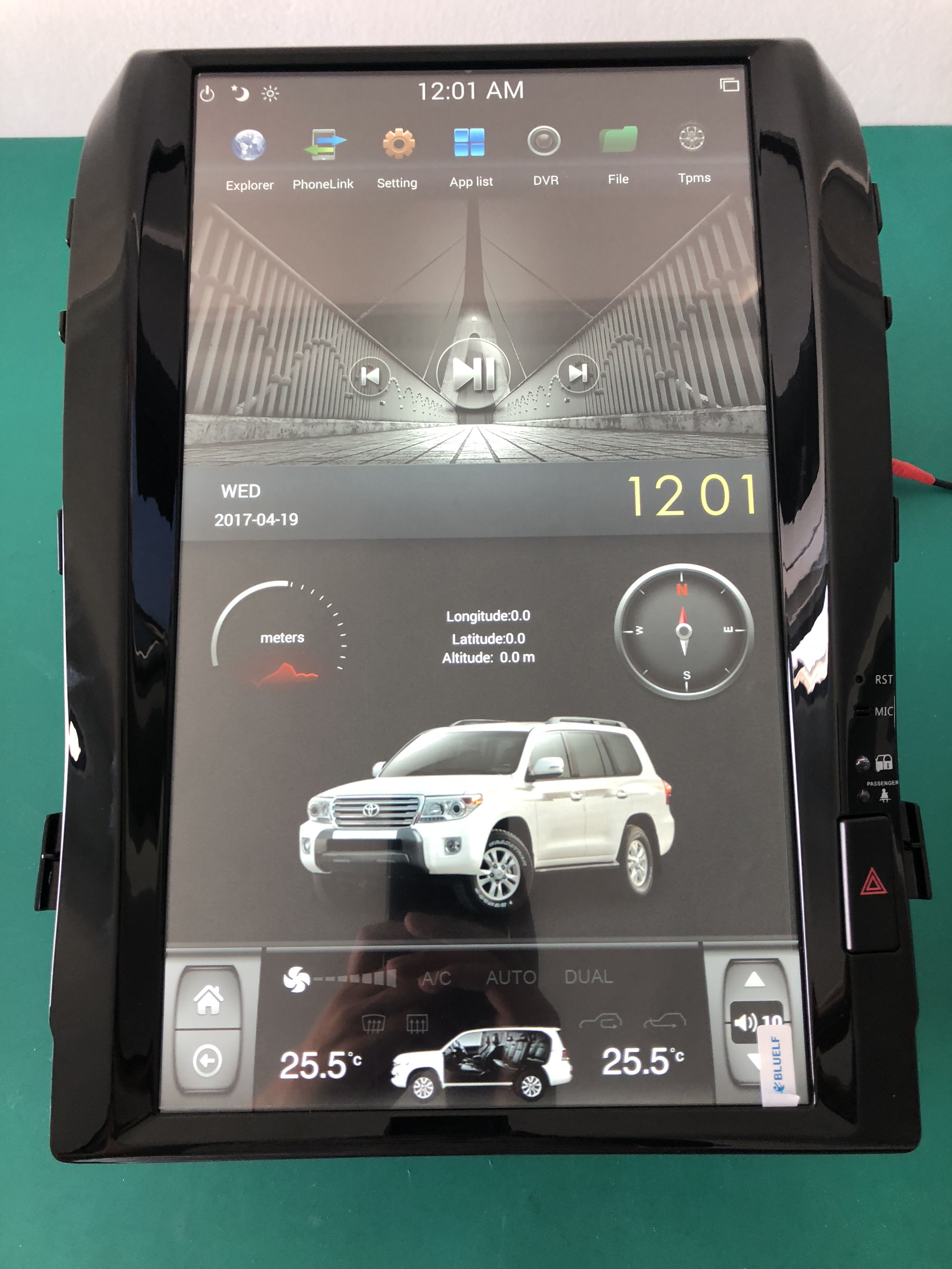 12.1 Tesla style vertical Touch screen Indash Car dvd