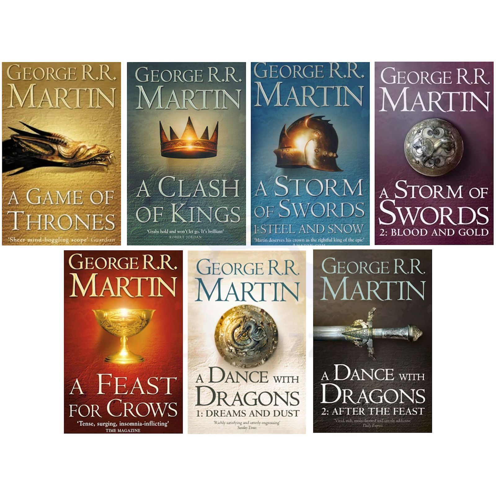 A Game Of Thrones 7 Volume Book Box Set Song Ice And Fire George R Martin 0007477155