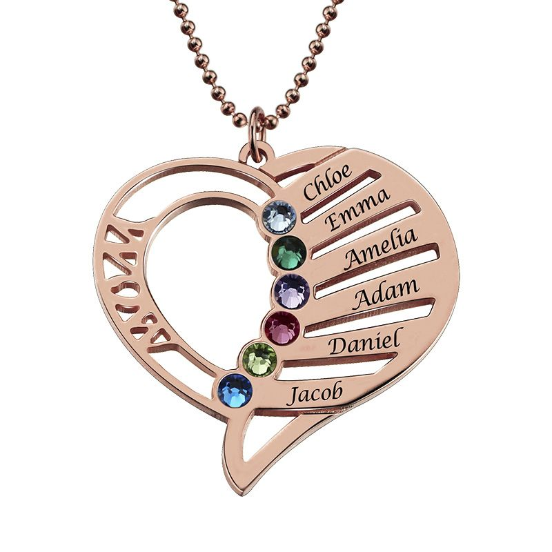 Custom Name Necklace Family Tree Of Life Necklaces Layered Disc Pendant Birth Stone Chain Rose Gold Collares Gift For Grandma Special Buy Jewellery & Watches
