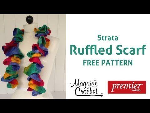 Starbella Strata Ruffled Scarf Free Crochet Pattern - Right Handed ...