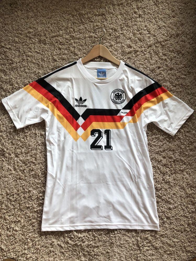 New Adidas 1990 Fifa World Cup Germany Deutschland Soccer Football Jersey 21 M Mens Tops Adidas Mens Polo Shirts