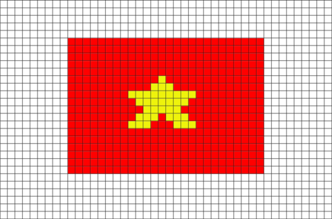 Flag Of Vietnam Pixel Art Pixel Art Pixel Art Templates Pixel Art Design