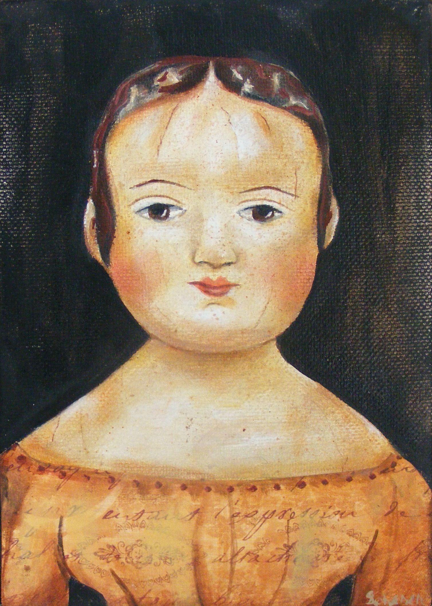Folk Art Doll Painting