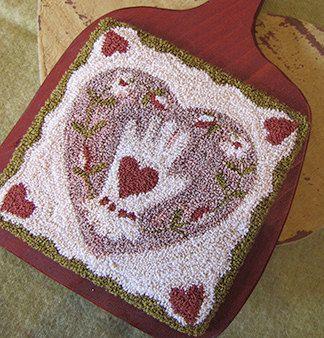 Primitive Punchneedle Valentines Pattern