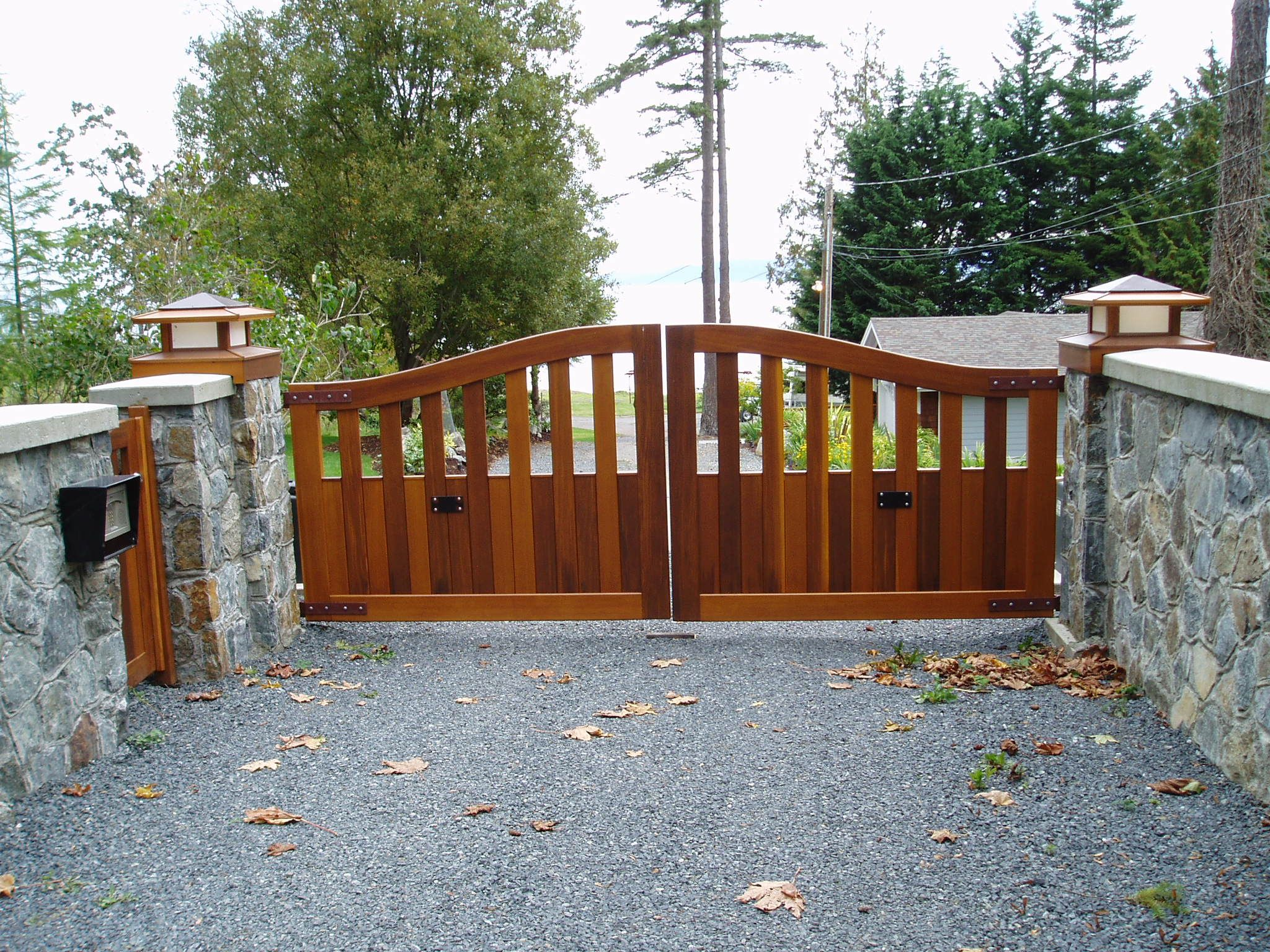 Galvanized steel frame drive gate fence dallas wood gate - Driveway Wooden Gates Glasgow For Wood Gate