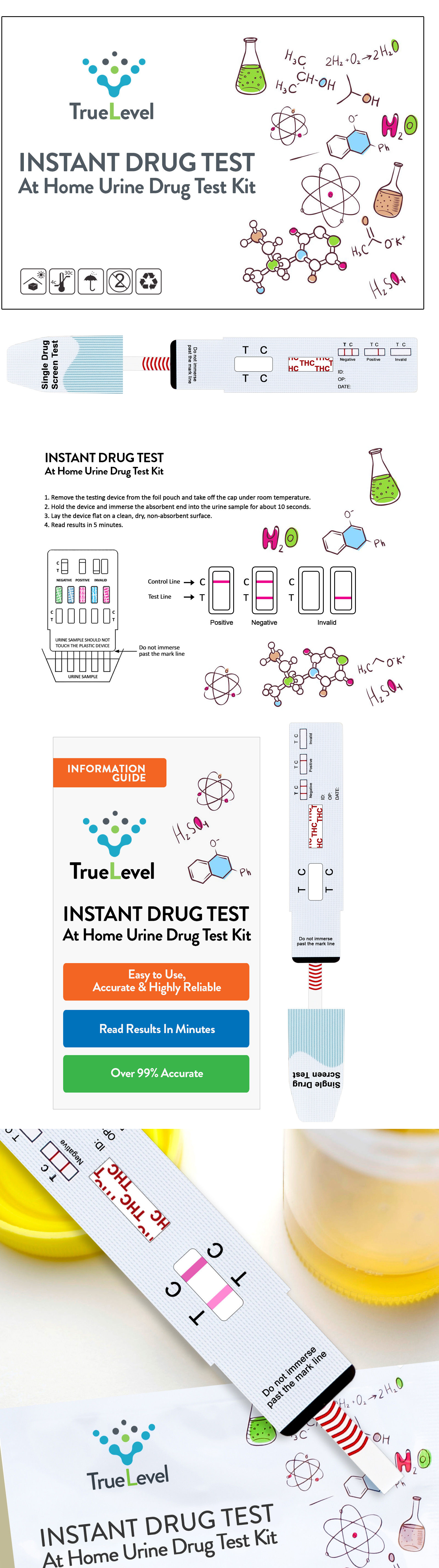 Drug Testing: True Level Marijuana Thc Single Panel Drug Screen Test Kit Dip Card -> BUY IT NOW ONLY: $59.95 on eBay!