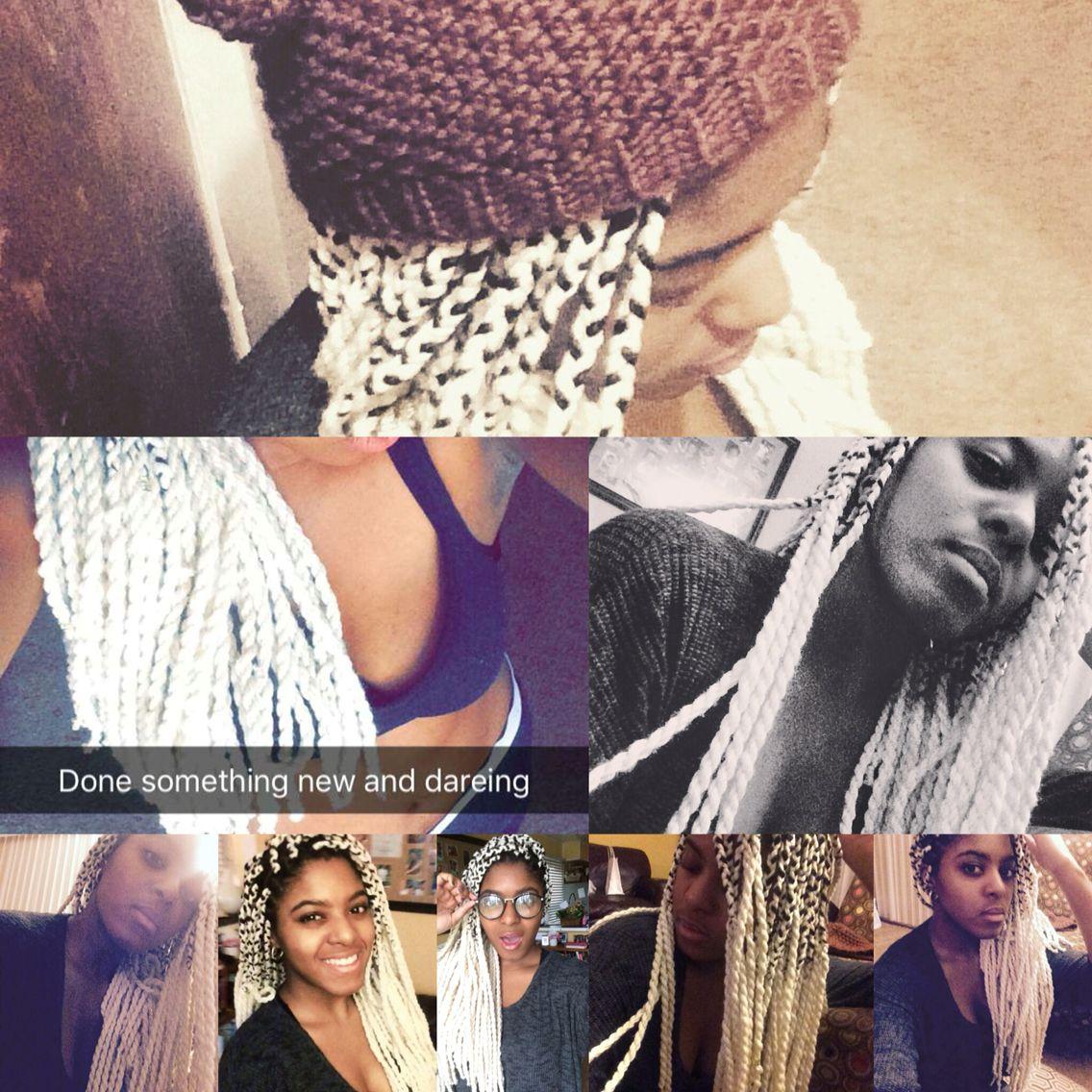 Purl white yarn twist