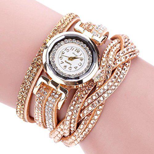 BinmerTM Duoya Brand Watches Women Luxury Crystal Women Wristwatch  Rhinestone Clock Gold Bracelet Quartz Ladies Dress Gift Watches gold --  Want additional ... b95e34b1e342
