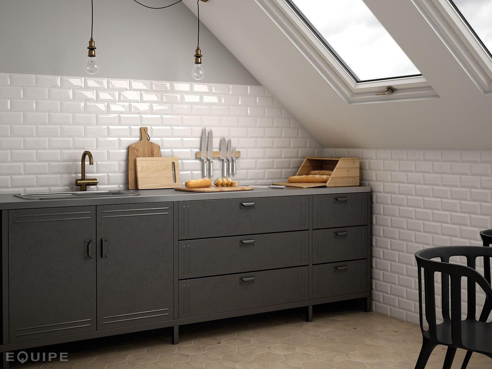 White Paste Wall Tiles Metro By Equipe Ceramicas Kitchen Wall Tiles Kitchen Wall Metro Tiles