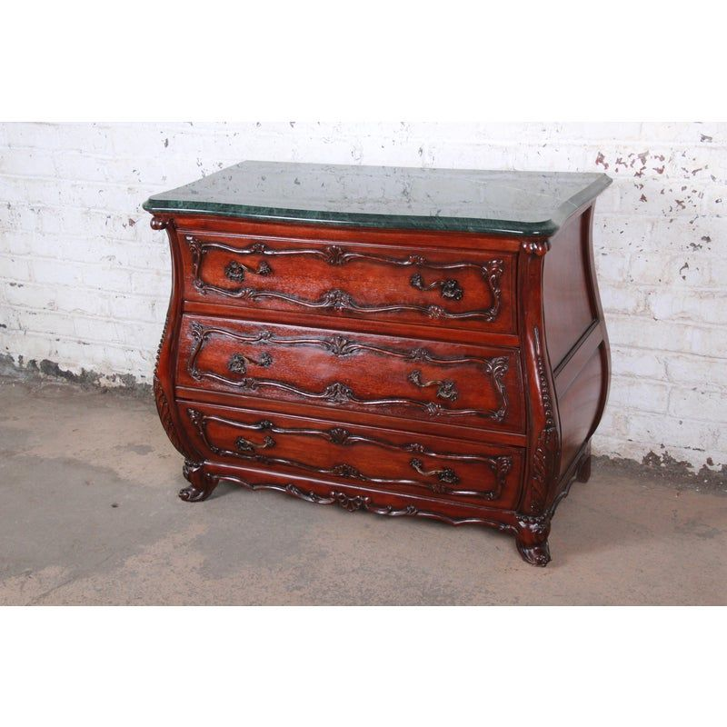 French Louis Xv Style Mahogany Marble Top Bombay Chest Or Commode Chairish Bombay Chest Marble Top Mahogany Bombay chests for sale used