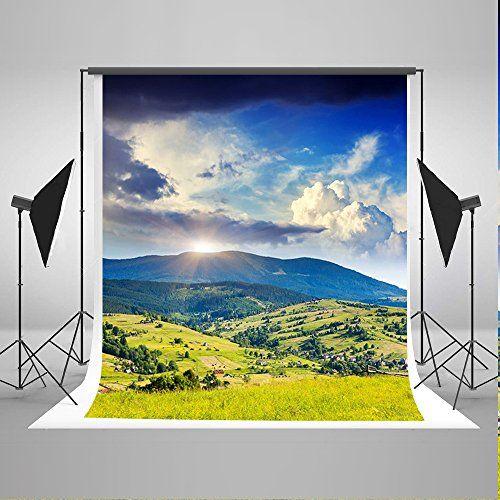 LYLYCTY 7x5ft Sky Backdrop Sky Mountain Range Christs Cross Photography Background and Studio Photography Backdrop Props LYGE715