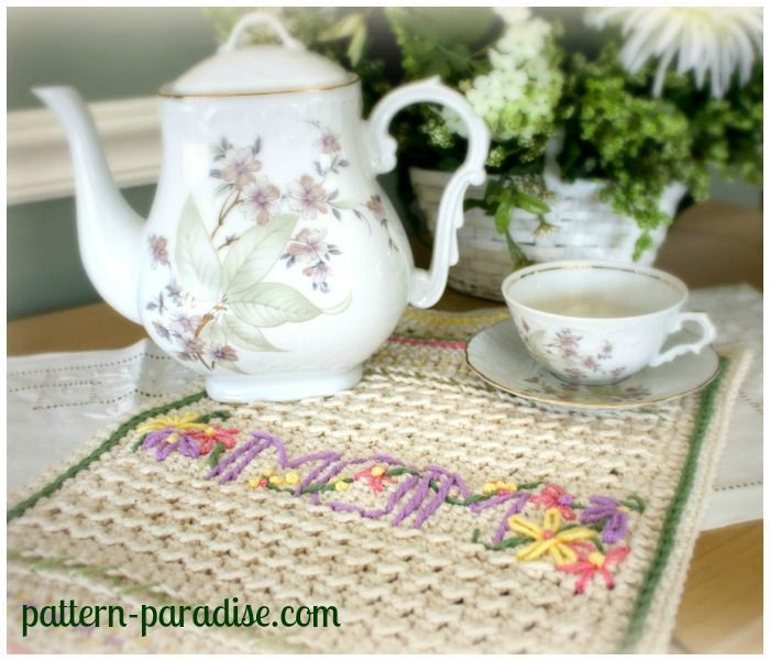 FREE Crochet Pattern - A New Dishtowel & Embellishment 101
