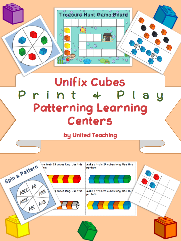 Unifix Print Play Patterning Learning Centers Math For