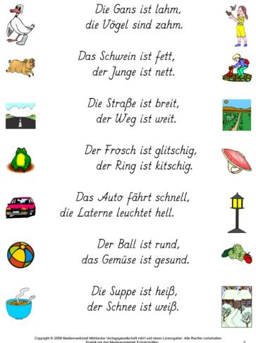 reimw rter adjektive spiele kindergarten language und deutsch. Black Bedroom Furniture Sets. Home Design Ideas