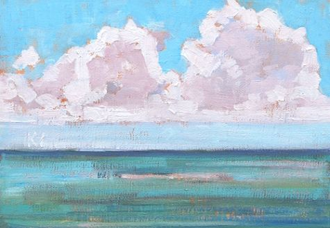 Clouds at Cabrillo, San Diego Painting -- Kevin Inman