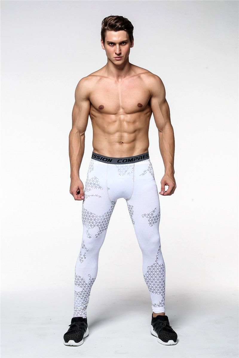 d67dad9b8e751 White Camouflage Men Fitness Joggers Mens leggings also called compression  pants and tights, mens compression leggings, mens running leggings, ...