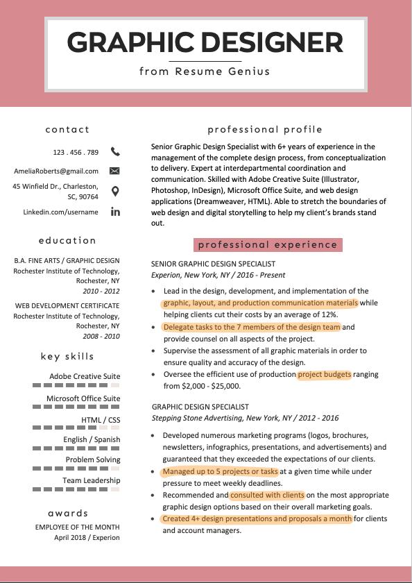 Skills For Resume 100 Skills To Put On A Resume Graphic Design Resume Resume Design Graphic Design Jobs