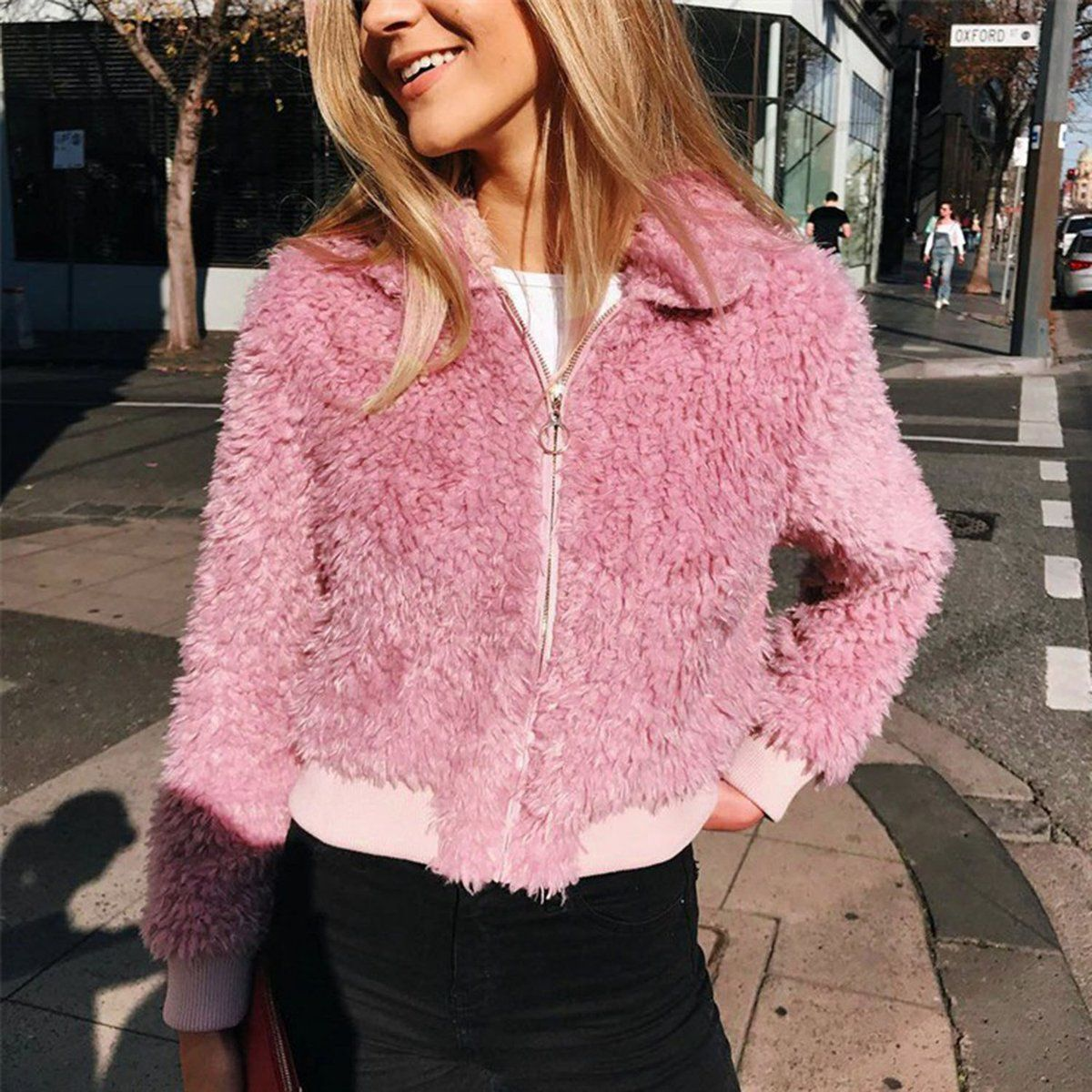 Lifestyler Fashion Girls Winter Warm Thick Outwear Faux Fur O-Neck Solid Coat Casual Cute Jacket Clothes