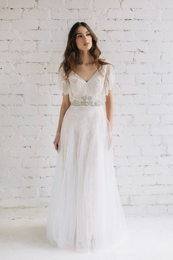 Boho Wedding Dress, Wedding Gown, Swarovski Crystal Wedding Dress ...