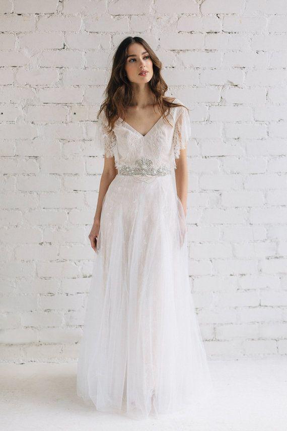 Wedding Dress , Lace Dress, Bridal Dress , Bohemian Wedding Dress ...