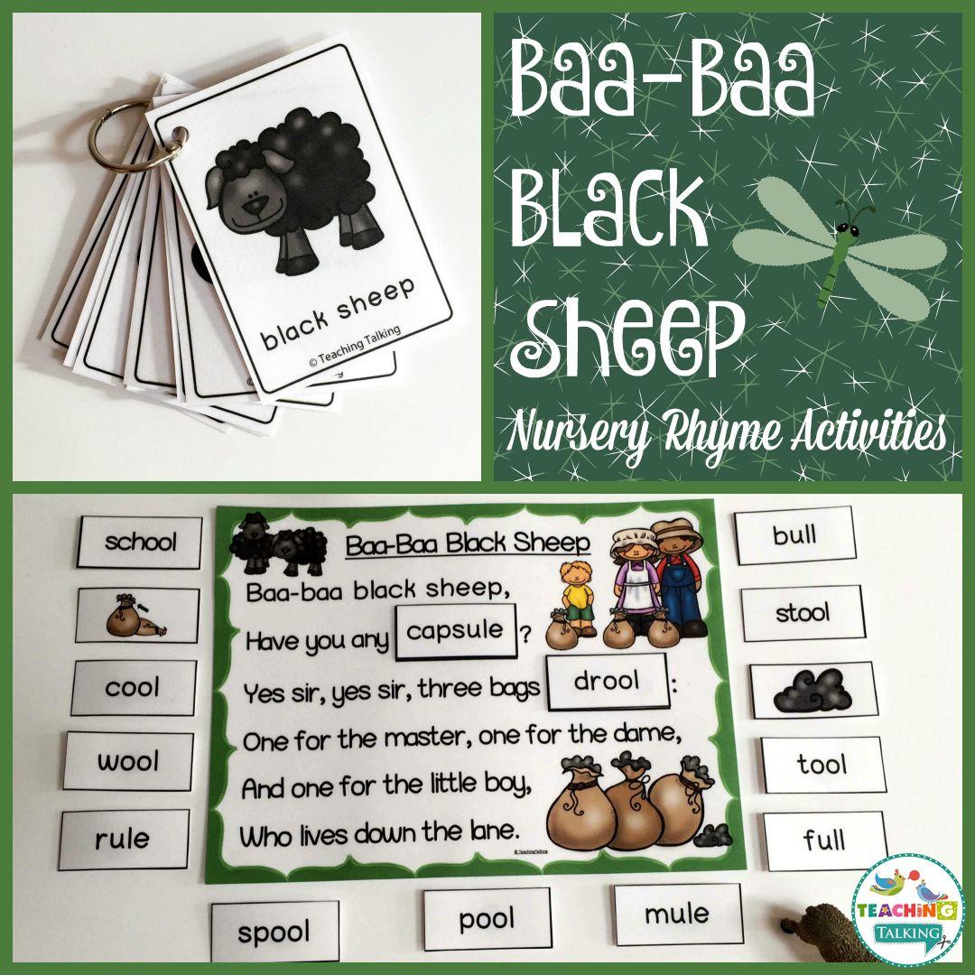 Nursery Rhymes Activities For Baa Baa Black Sheep With