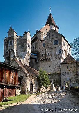 Castelo Pernstejn, em Pernstejn, Vysočina,  Republica Tcheca.