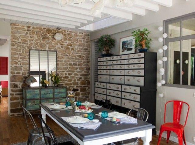 Table salle à manger Chris Pinterest - table salle a manger loft
