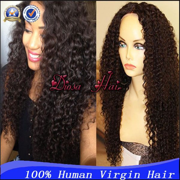Find More Wigs Information about Unprocessed Virgin Brazilian Afro Kinky Curly Wigs For Black Women Glueless Full Lace Wig/Lace Front Wig,Kinky Curly U Part Wig,High Quality Wigs from Diosa Hair on Aliexpress.com