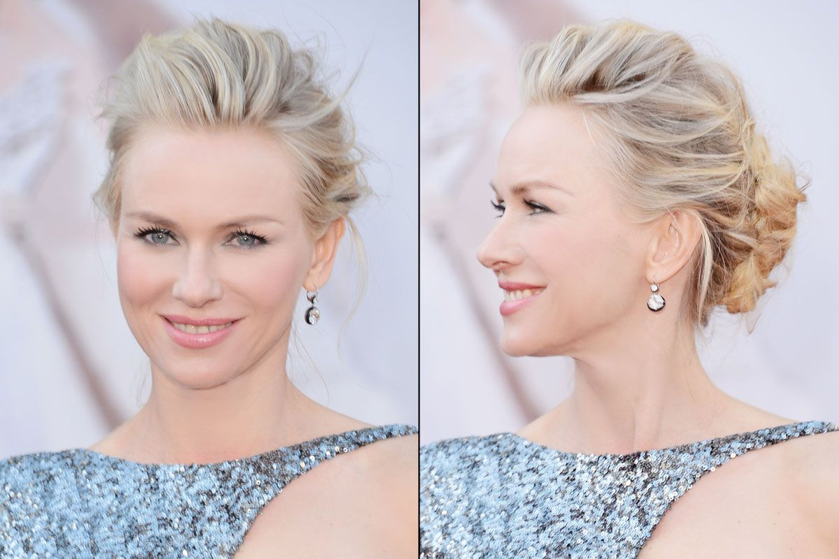 to wear - Get watts naomi perfectly messy oscars updo video