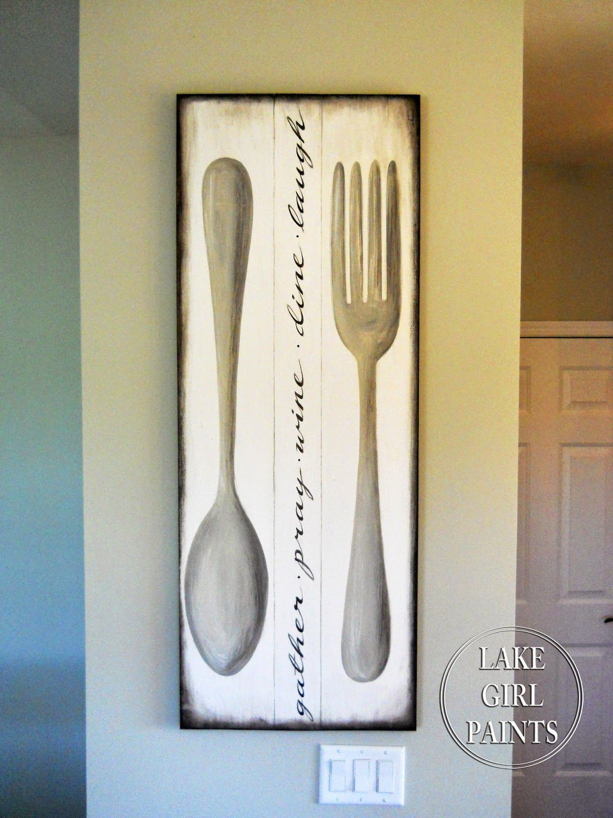 Making A Home With Painted Furniture Happy Art And Handmade Things Dining Room Wall Art Dining Room Decor Diy Dining Room Wall Decor