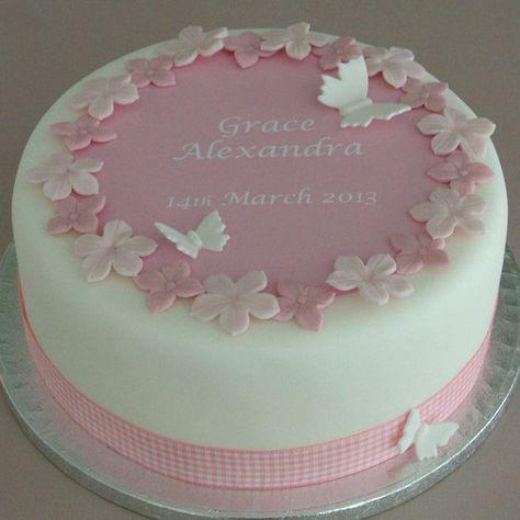 Kit de decoración de pastel de bautizo personalizado para niñas