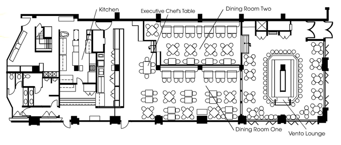 Restaurant blueprint layout interior pinterest layouts kitchens restaurant blueprint layout malvernweather Image collections