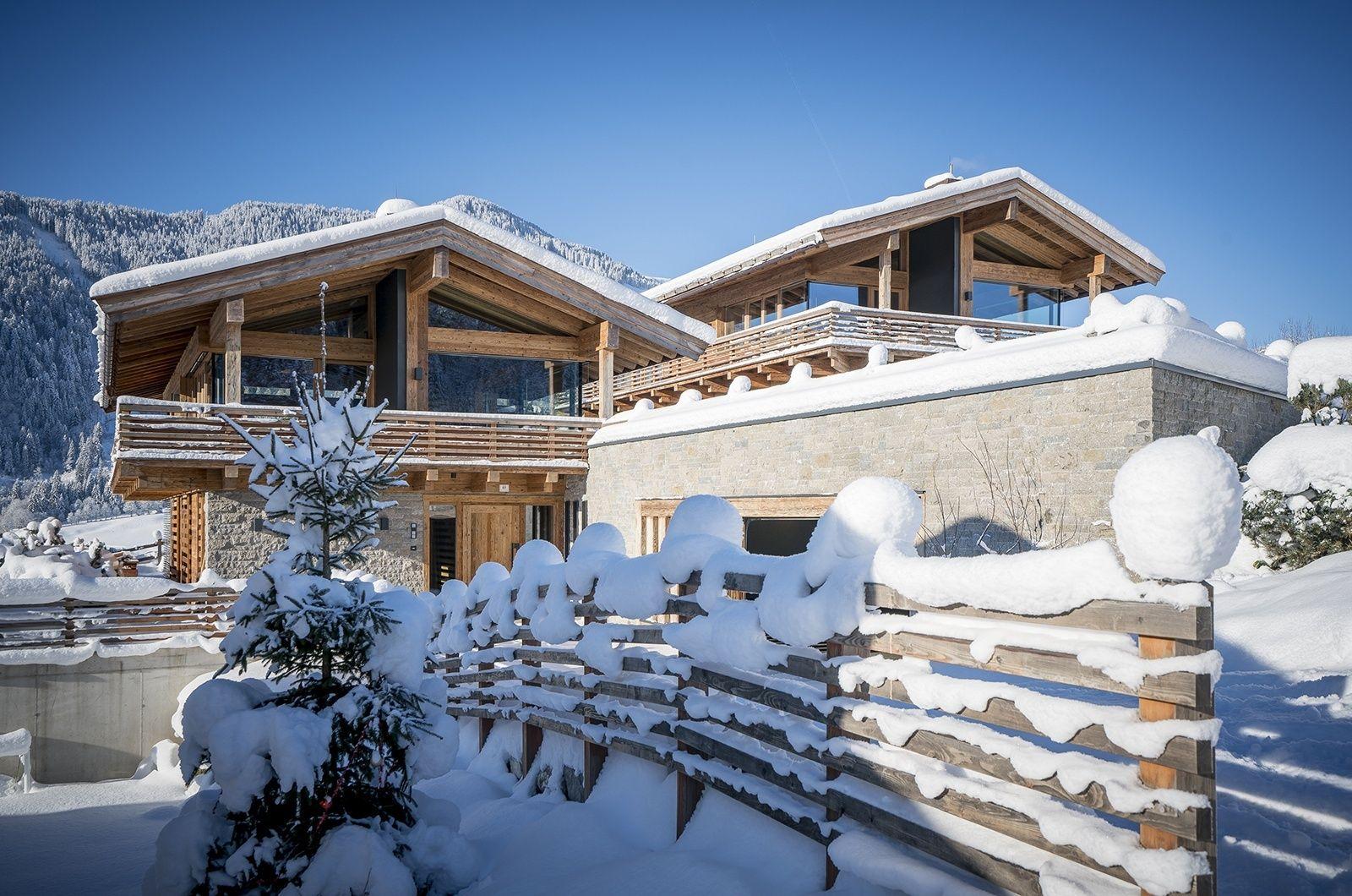 Designer chalet the twins alpinhaus einfamilienhaus for Moderne raumaufteilung