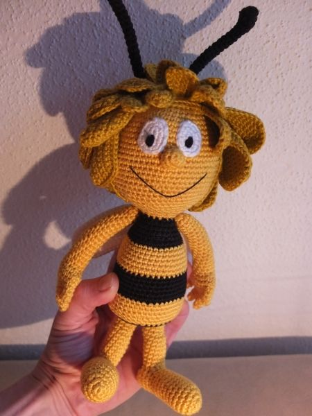 Gehäkelte Biene Maja Crochet Bee Maja Crochet Toys Pinterest