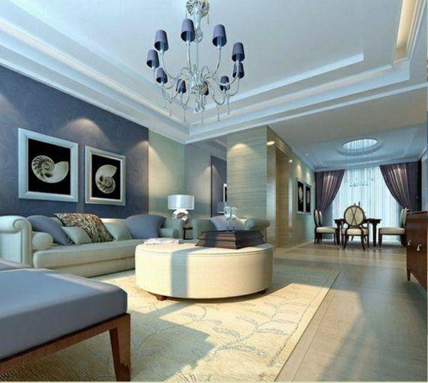 Wandfarben Ideen Wohnzimmer Kronleuchter