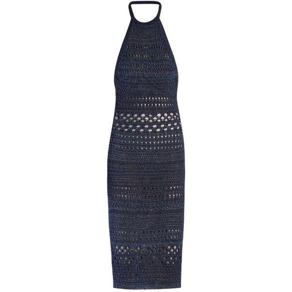 Balmain Halterneck crochet midi dress ($770) ❤ liked on Polyvore ...