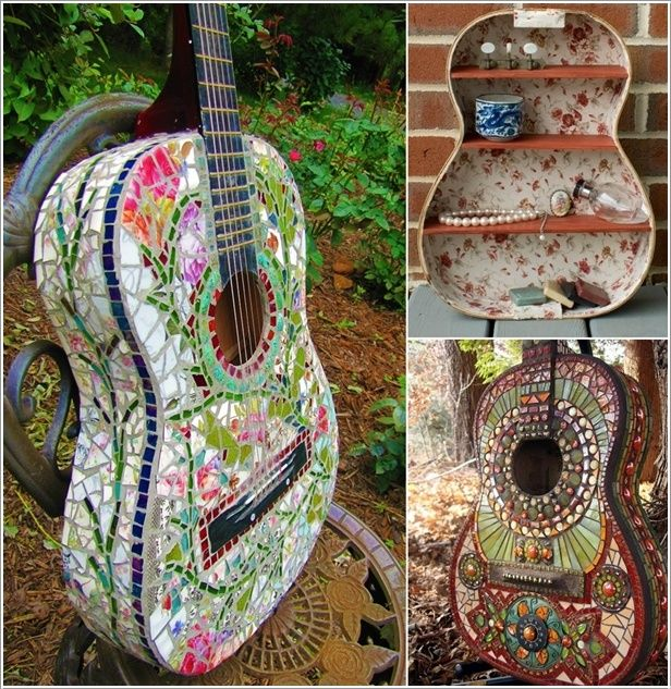 20 Recycling Ideas For Home Decor: Amazing Interior Design 5 Ideas To Recycle Old Guitars And Let ...