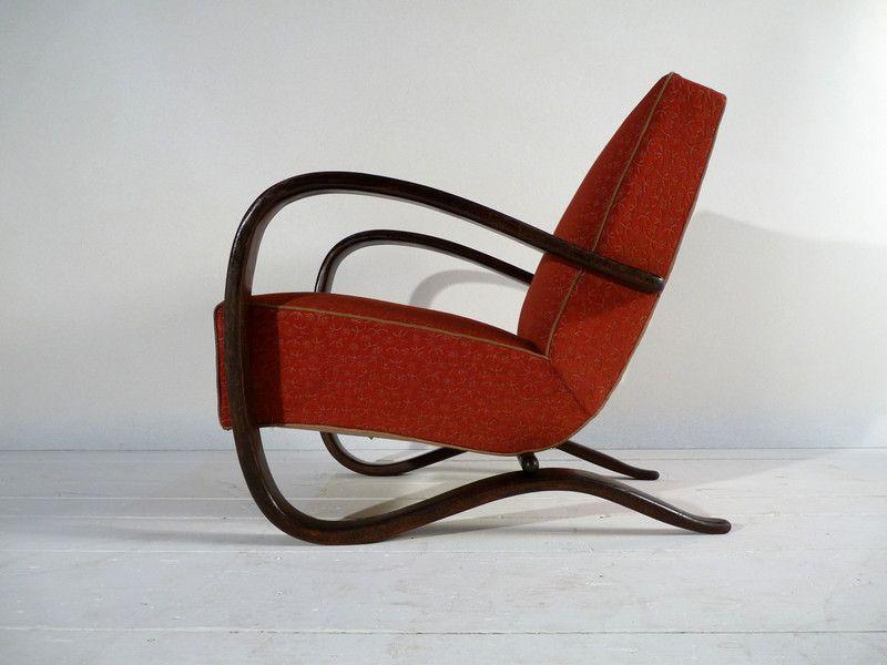 art deco sessel von halabala h 269 von ferdinand christall auf halabala pinterest. Black Bedroom Furniture Sets. Home Design Ideas