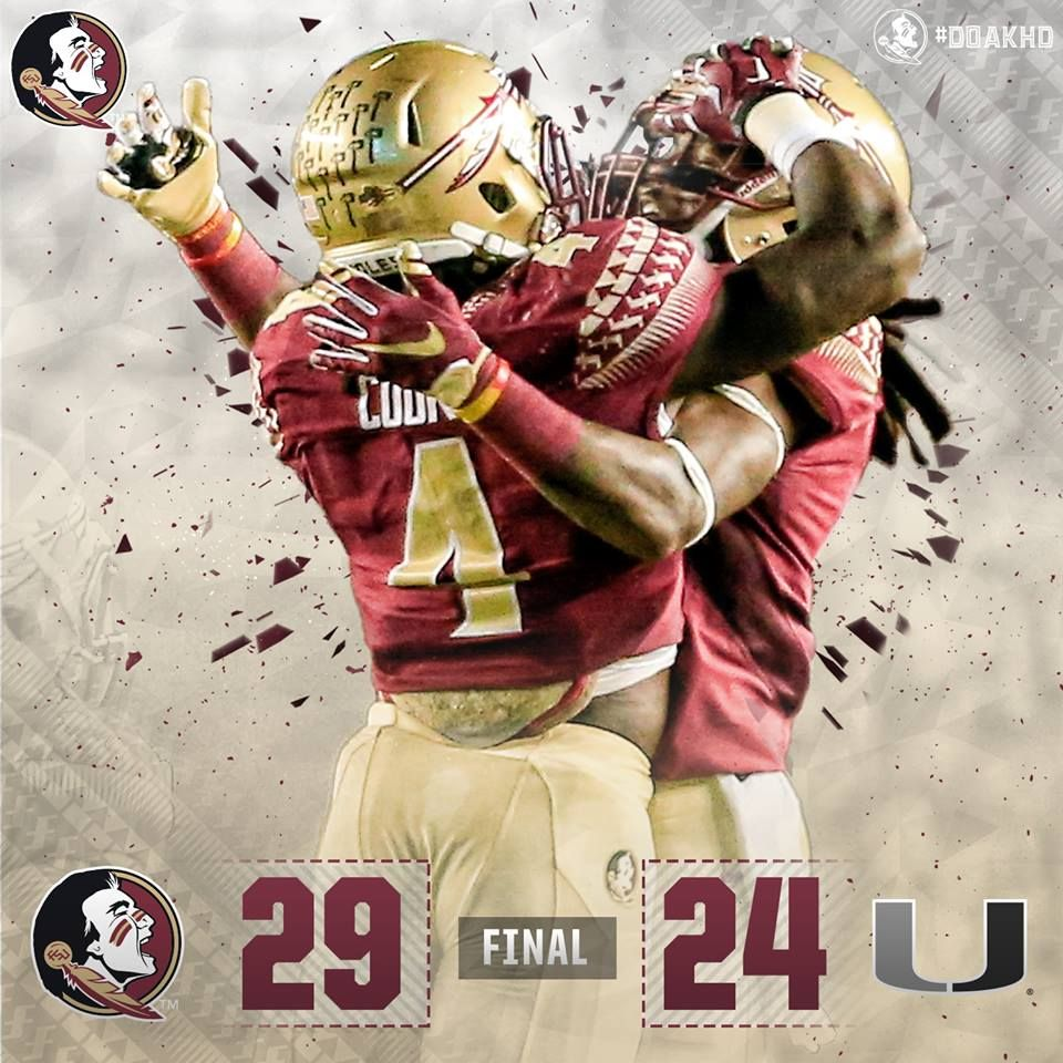 Another FSU win over the 'canes. Florida state seminoles