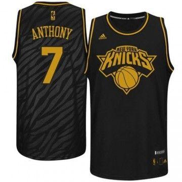 timeless design 98226 5d99a new york knicks carmelo anthony 7 black replica jersey sale