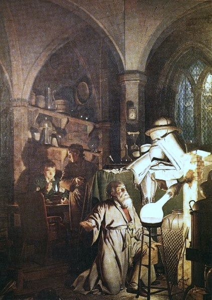 Alchemical laboratories - Paintings 18th and 19th Centuries: