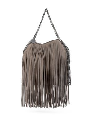 146a275da7a5 STELLA MCCARTNEY Baby Bella Faux-Suede Fringed Tote.  stellamccartney  bags   hand bags  polyester  suede  tote