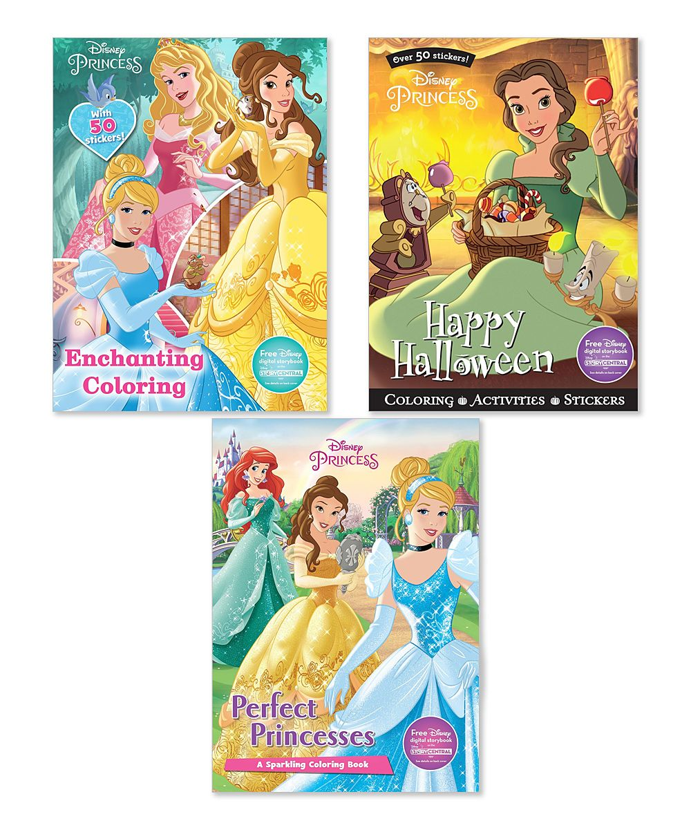 Disney princess enchanting coloring activity book set color