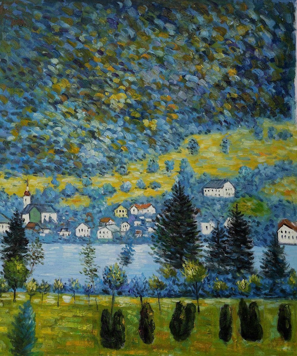 Gustav Klimt Landscapes Pendio Montano A Unterach By Gustav Klimt Gustav Klimt Klimt Paintings Klimt