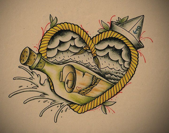 Message In A Bottle Like The This For Ideas Tattoos Bottle