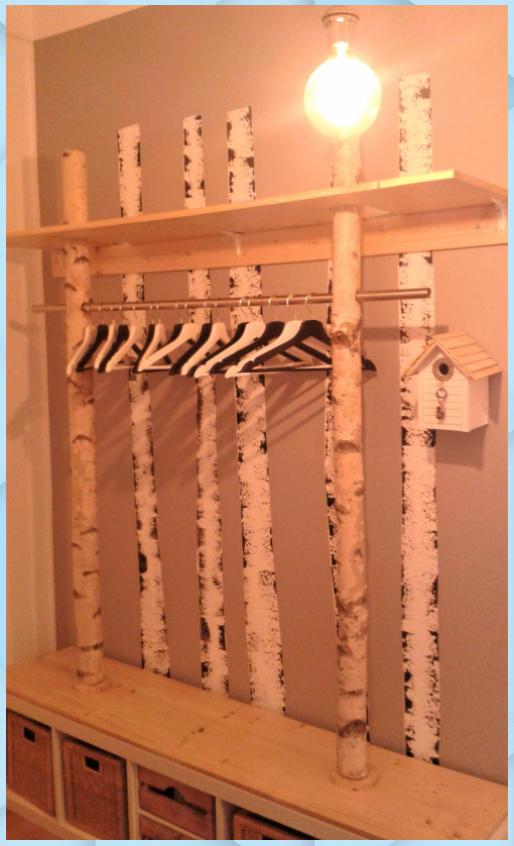 Eine Garderobe Aus Birke Badezimmer Deko Ideen Aus Badezimmer Deko Ideen Holz Birke Eine Garderobe In 2020 Garderobe Selber Bauen Birkenstamm Birke
